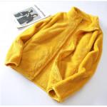 珊瑚絨柔軟外套,中長款百搭外套輕盈保暖,禦寒少女大童媽媽皆可穿/秋冬外套/針織外套/開衫外套