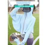 【升級防曬衣+防曬面罩(可拆卸)】面罩防曬美白一次到位,冰絲防曬防飛沫面罩防曬衣 防曬外套 帽子女 防UV紫外線防護面罩 遮陽吸汗速干衣 出游抗UV外套 遮臉防飛沫太陽帽
